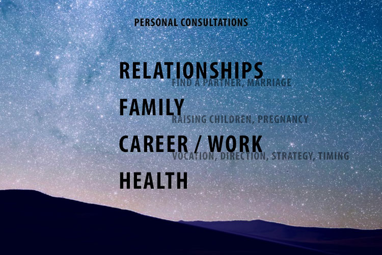 Personal Astrology Consultations for Relationships, Family, Work, Health